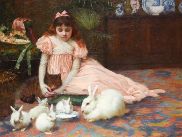 Edward Docker (British, fl. 1890-1899) En Famille