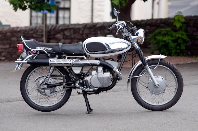 1971 Bridgestone 345cc GTO Frame no. NA1009668 Engine no. NA109724