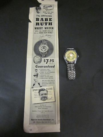 A 1948 Babe Ruth official wrist watch