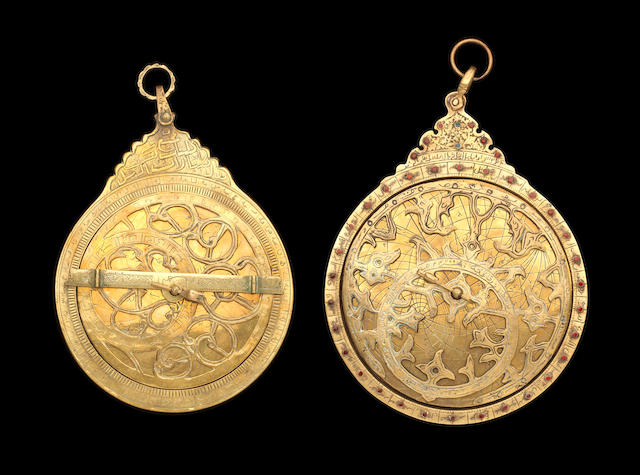 Two brass Astrolabes