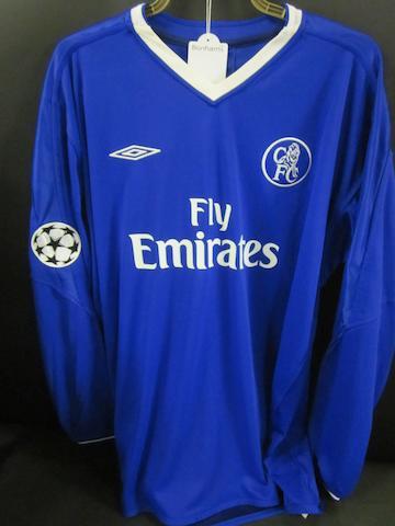 2009 Chelsea Didier Drogba match worn shirt