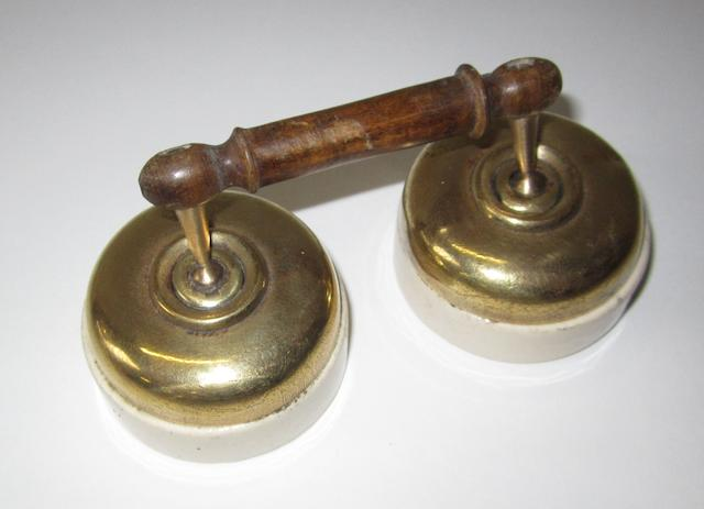 A pair of veteran car electrical switches,