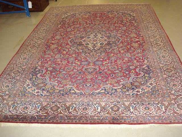 A Kashan carpet, Central Persia, 326cm x 221cm
