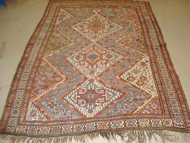 A Kashgai rug, South West Persia, 218cm x 150cm