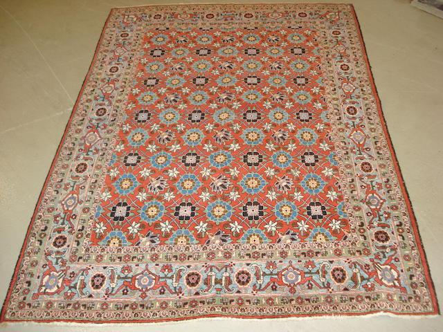 A Veramin rug, Central Persia, 203cm x 138cm