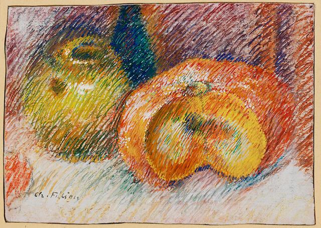 Charles Filiger (French, 1863-1928) Nature morte à la citrouille