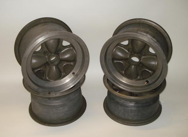 A set of four 'Brabham' Formula Junior alloy wheels,