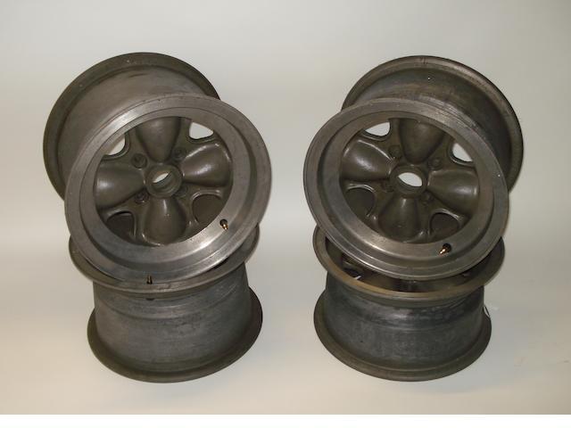 A set of four 'Brabham' Formula Junior alloy wheels,