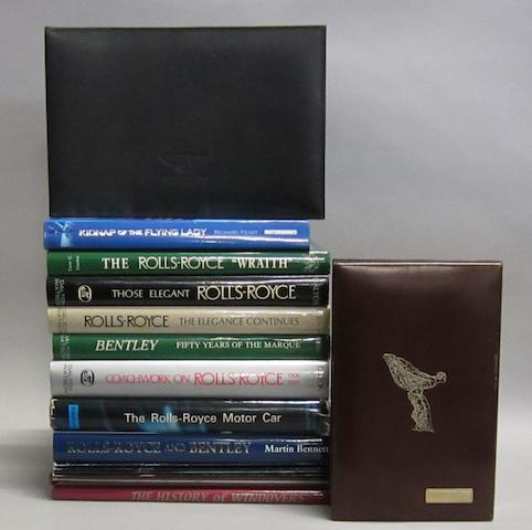 Assorted Rolls-Royce and Bentley books,
