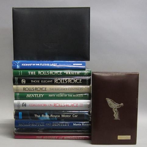 Assorted Rolls-Royce and Bentley books,