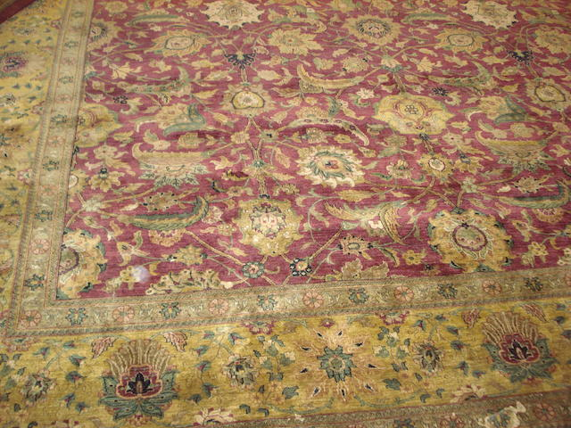An Agra design carpet, 458cm x 366cm
