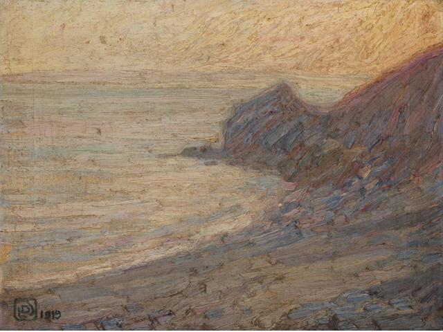 Leon de Smet (Belgian, 1881-1966) Falaises sur mer