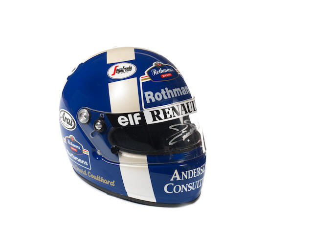 A signed David Coulthard racing helmet,