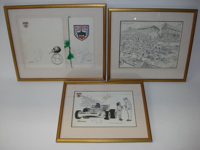 Two signed prints after Russell Brockbank,