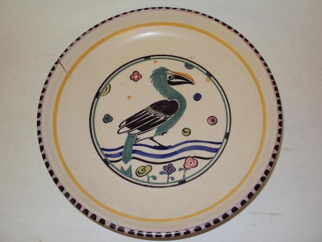 A rare Poole pottery dish, 1920's