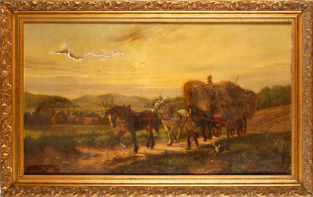 Albert Dunnington (British) Hay cart