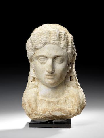 A Roman marble female portrait bust