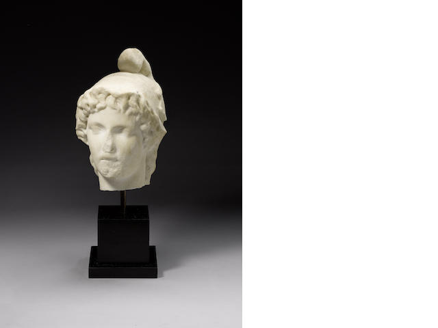 A marble head of Ganymede
