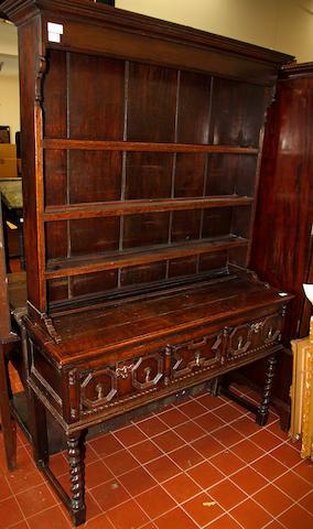 A 17th century style oak dresser
