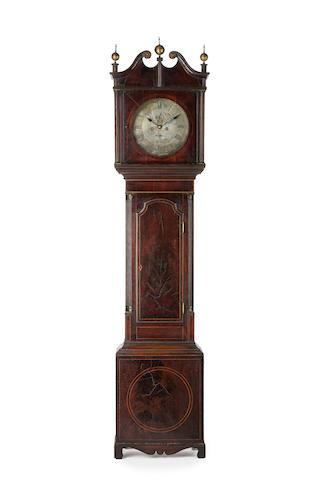 An important Australian cedar and casuarina longcase clock by James Oatley, circa 1822, No 23