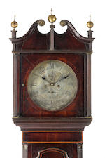 An important Australian cedar and casuarina longcase clock by James Oatley, circa 1822, No 23