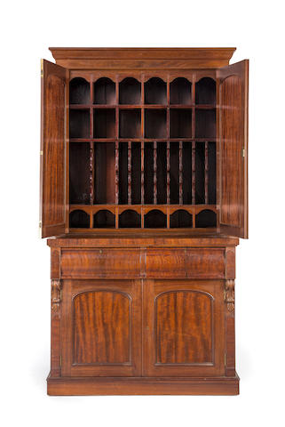 A large Australian full cedar enclosed bookcase Circa 1850
