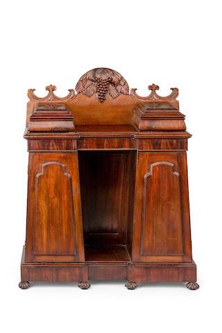 A rare Australian full cedar  pedestal sideboard of small proportions Circa 1835