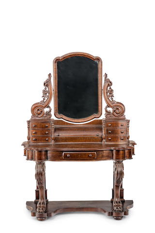An Australian fiddleback blackwood dressing table Circa 1875