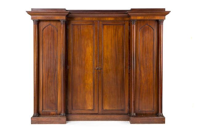 An Australian full cedar gentleman's wardrobe Circa 1845