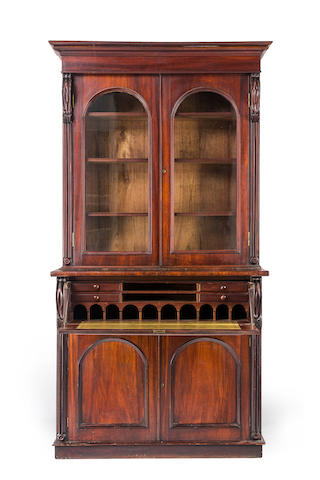 An Australian full cedar secretaire bookcase of large proportions Circa 1840