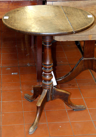 A George III mahogany tripod table