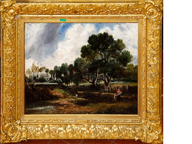 Follower of John Constable, RA (British, 1776-1837) East Bergholt,