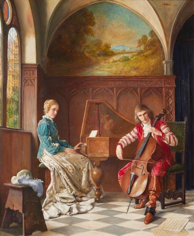 Erwin Eichinger (Austrian, 1892-1950) A musical duet