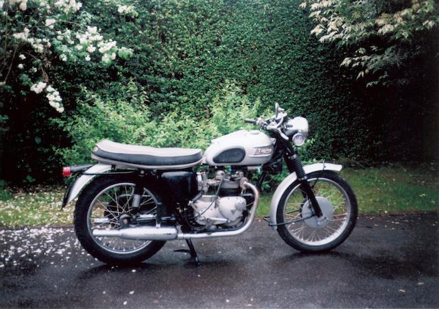 1960 Triumph T100 Frame no. T100-H-14897 Engine no. 3TA-H45678