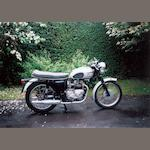 1960 Triumph T100 Frame no. T100-H-14897 Engine no. 3TA-H45678
