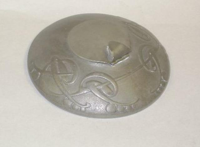 Archibald Knox for Liberty : A Tudric pewter inkwell