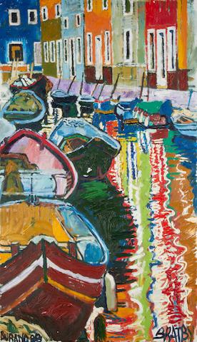 John Bratby R.A. (British, 1928-1992) Burano