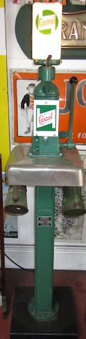 A Bowser hand-cranked oil pump for Castrol,