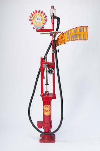 A Wayne skeleton hand-cranked petrol pump,