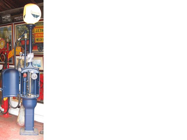 A Gilbert & Barker 'Fat' bodied hand-cranked petrol pump,