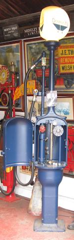 A Gilbert & Barker 'Fat' bodied hand-cranked petrol pump,