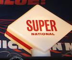 A National Super petrol pump globe,