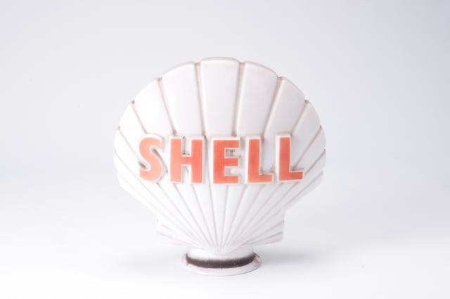 A Shell petrol pump globe,