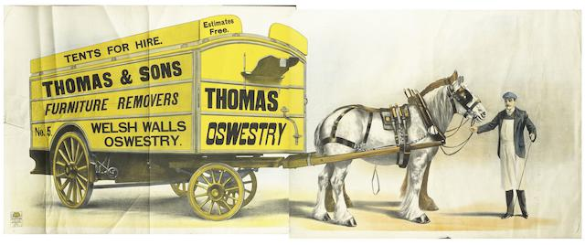A Thomas & Sons Furniture Removals advertising poster,