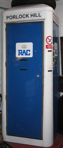The Porlock Hill RAC telephone box,
