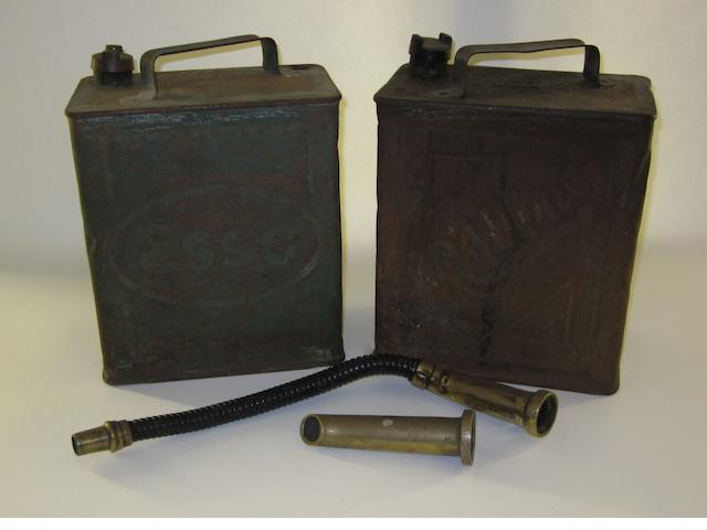 Two 2-Gallon fuel cans,