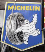Two shield-shaped Michelin enamel signs,