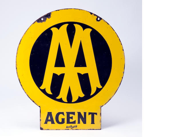 An  early AA Agent enamel sign,