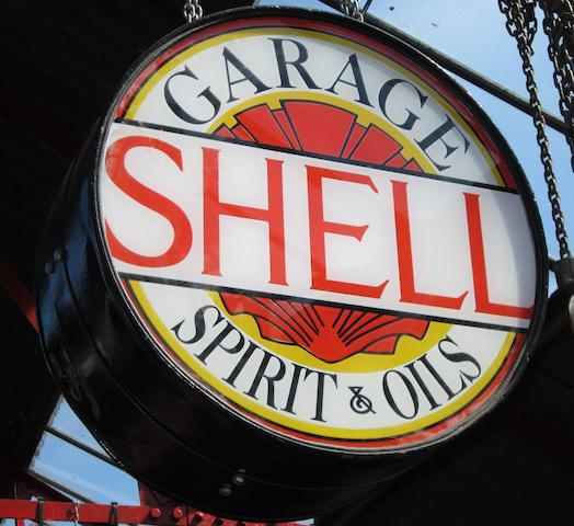 A Shell Garage 'spirit and oils' illuminated sign,