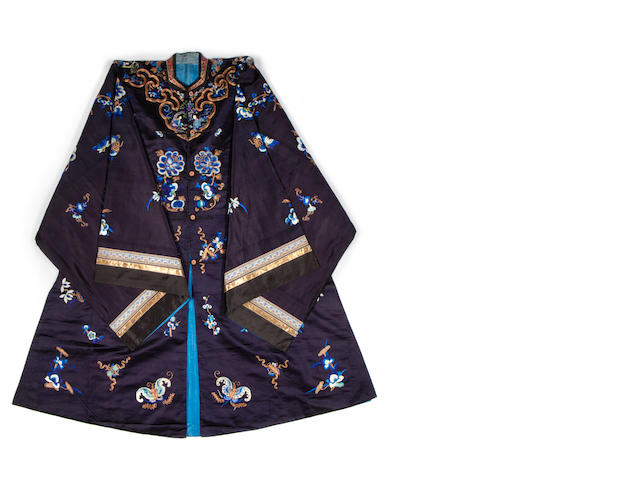 A woman's robe and a surcoat Qing Dynasty or possibly later